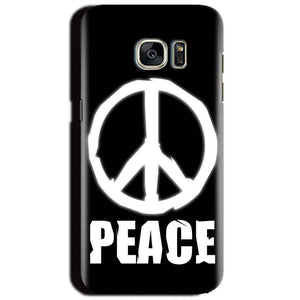Samsung Galaxy S6 Mobile Covers Cases Peace Sign In White - Lowest Price - Paybydaddy.com