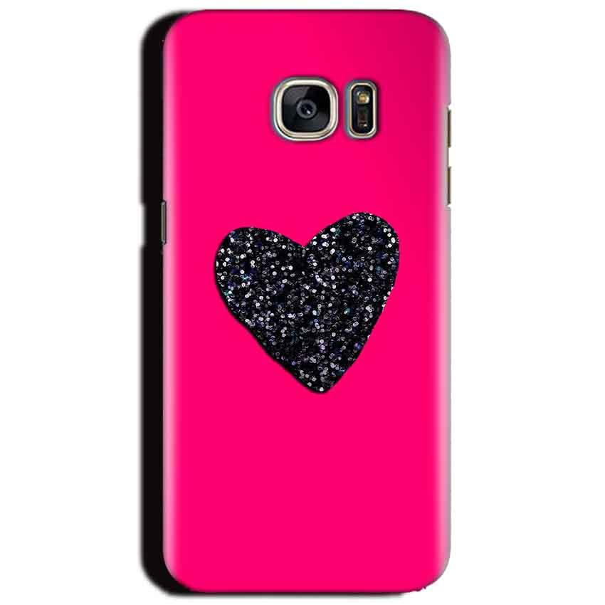 Samsung Galaxy S6 Mobile Covers Cases Pink Glitter Heart - Lowest Price - Paybydaddy.com