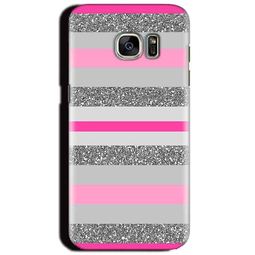 Samsung Galaxy S6 Mobile Covers Cases Pink colour pattern - Lowest Price - Paybydaddy.com