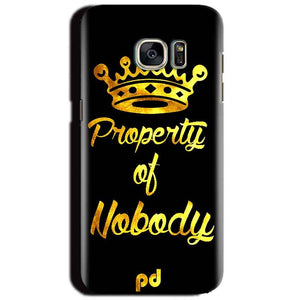 Samsung Galaxy S6 Mobile Covers Cases Property of nobody with Crown - Lowest Price - Paybydaddy.com