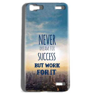 Vivo V1 Max Mobile Covers Cases Never Dreams For Success But Work For It Quote - Lowest Price - Paybydaddy.com