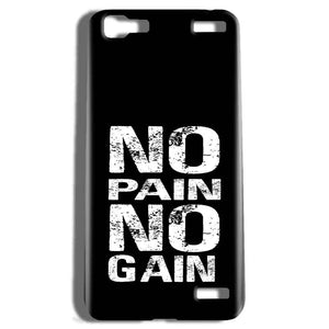 Vivo V1 Max Mobile Covers Cases No Pain No Gain Black And White - Lowest Price - Paybydaddy.com