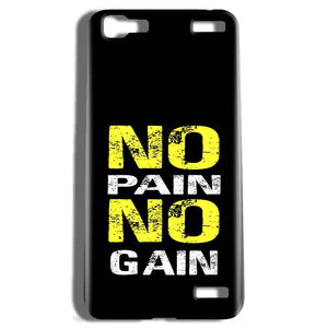 Vivo V1 Max Mobile Covers Cases No Pain No Gain Yellow Black - Lowest Price - Paybydaddy.com
