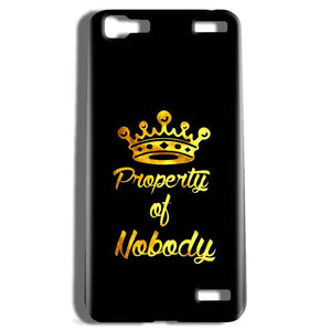 Vivo V1 Max Mobile Covers Cases Property of nobody with Crown - Lowest Price - Paybydaddy.com