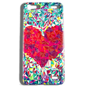 Vivo V1 Max Mobile Covers Cases heart Prisma design - Lowest Price - Paybydaddy.com