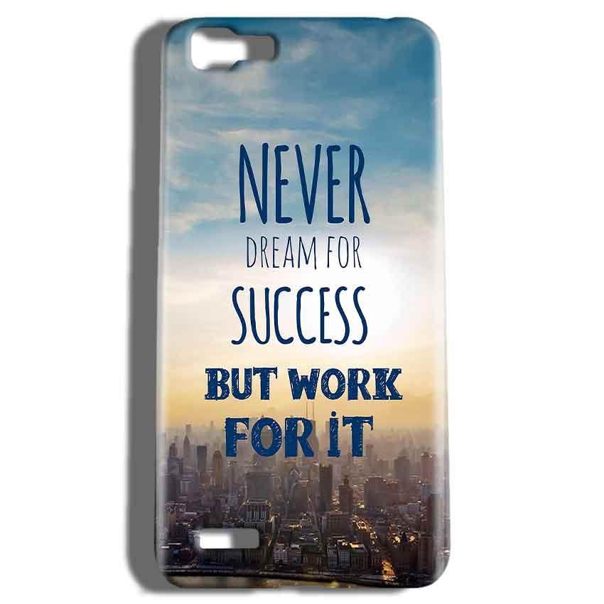 Vivo V1 Mobile Covers Cases Never Dreams For Success But Work For It Quote - Lowest Price - Paybydaddy.com