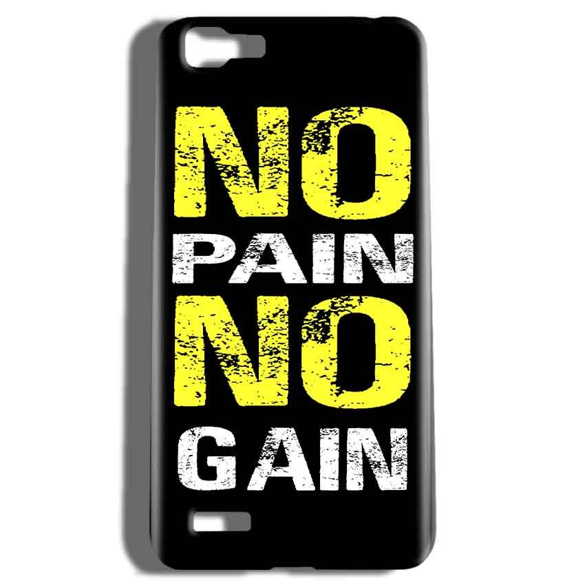 Vivo V1 Mobile Covers Cases No Pain No Gain Yellow Black - Lowest Price - Paybydaddy.com