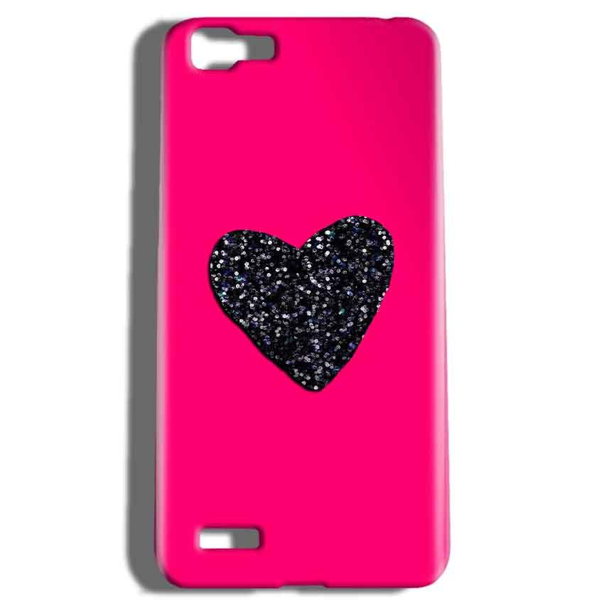 Vivo V1 Mobile Covers Cases Pink Glitter Heart - Lowest Price - Paybydaddy.com