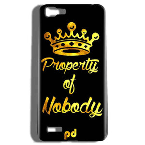 Vivo V1 Mobile Covers Cases Property of nobody with Crown - Lowest Price - Paybydaddy.com