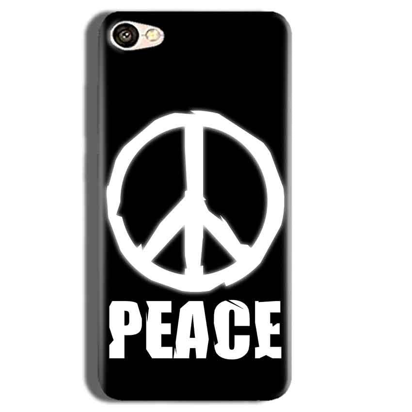Vivo Y55L Mobile Covers Cases Peace Sign In White - Lowest Price - Paybydaddy.com