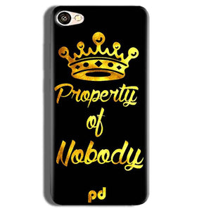 Vivo Y55L Mobile Covers Cases Property of nobody with Crown - Lowest Price - Paybydaddy.com