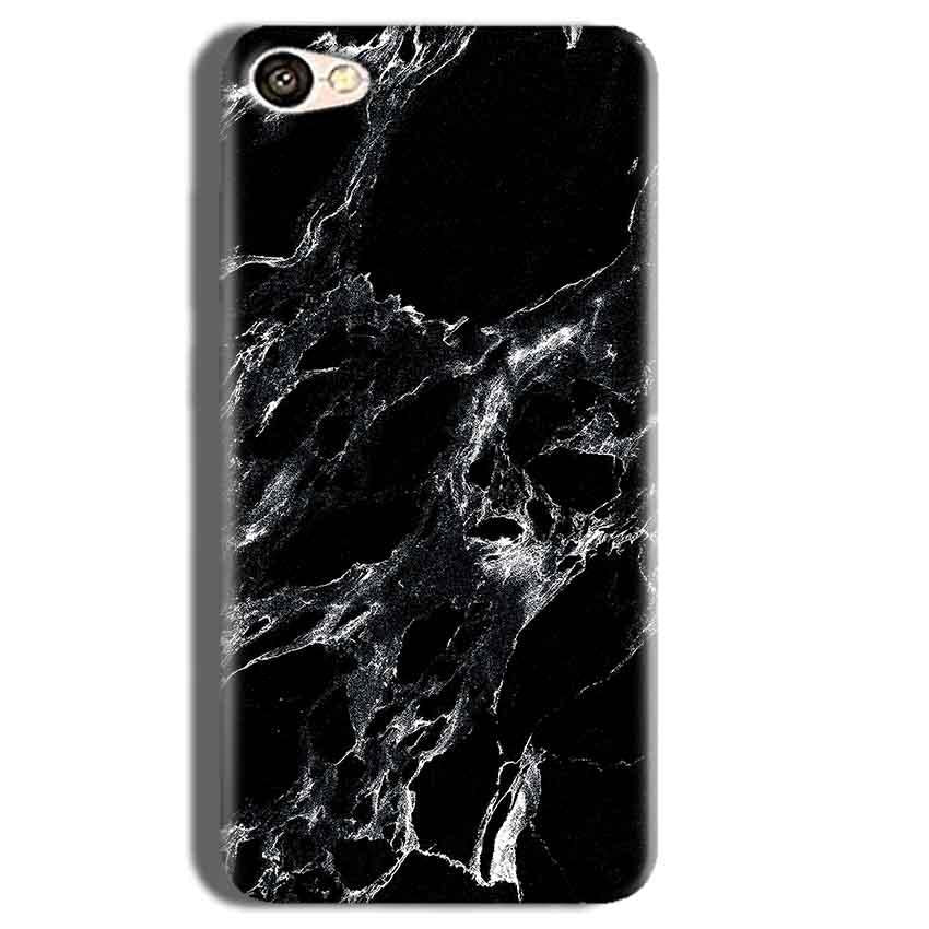 Vivo Y55L Mobile Covers Cases Pure Black Marble Texture - Lowest Price - Paybydaddy.com