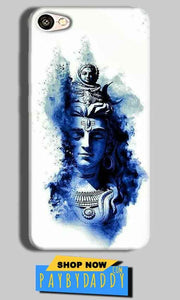 Vivo Y55L Mobile Covers Cases Shiva Blue White - Lowest Price - Paybydaddy.com