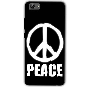 Vivo Y71 Mobile Covers Cases Peace Sign In White - Lowest Price - Paybydaddy.com