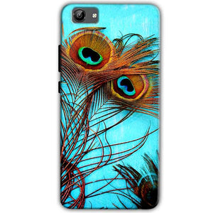 Vivo Y71 Mobile Covers Cases Peacock blue wings - Lowest Price - Paybydaddy.com
