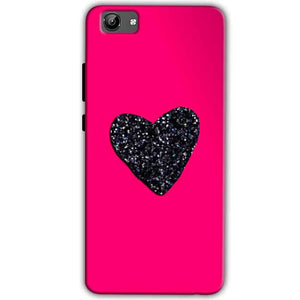 Vivo Y71 Mobile Covers Cases Pink Glitter Heart - Lowest Price - Paybydaddy.com
