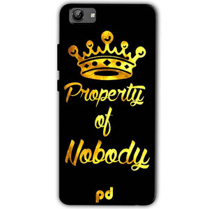 Vivo Y71 Mobile Covers Cases Property of nobody with Crown - Lowest Price - Paybydaddy.com
