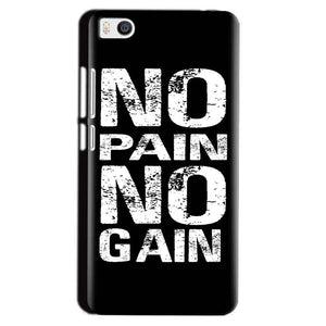 Xiaomi Mi5 Mobile Covers Cases No Pain No Gain Black And White - Lowest Price - Paybydaddy.com