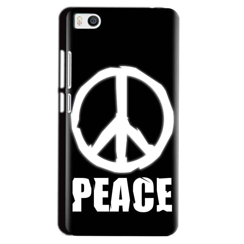 Xiaomi Mi5 Mobile Covers Cases Peace Sign In White - Lowest Price - Paybydaddy.com