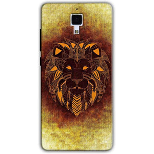 Xiaomi Mi 4 Mobile Covers Cases Lion face art - Lowest Price - Paybydaddy.com