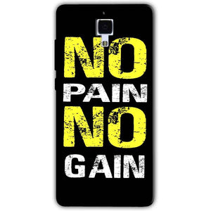 Xiaomi Mi 4 Mobile Covers Cases No Pain No Gain Yellow Black - Lowest Price - Paybydaddy.com