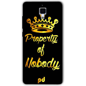 Xiaomi Mi 4 Mobile Covers Cases Property of nobody with Crown - Lowest Price - Paybydaddy.com