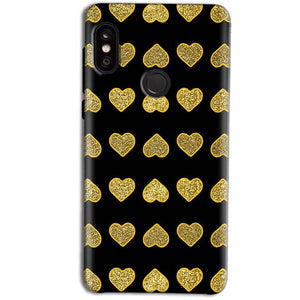 Xiaomi Redmi Note 5 Pro Golden Little Mobile Covers Cases Hearts- Lowest Price - Paybydaddy.com