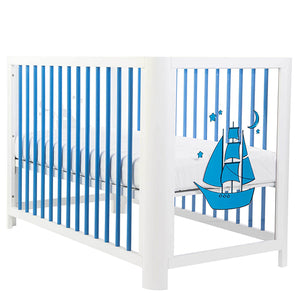 Image of Mirrored Blue Baby Crib