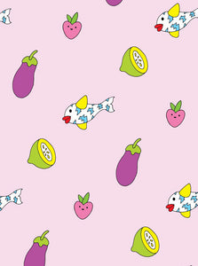 PINK SALAD ORGANIC BEDSHEET LIMITED EDITION