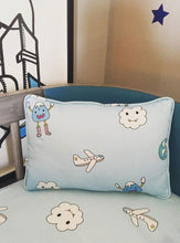 BLUE TRAVEL ORGANIC BEDSHEET  LIMITED EDITION
