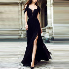Black Chiffon Elegant Evening Dress