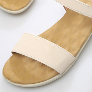 Plain  Low Heeled  Ankle Strap  Peep Toe  Casual Sandals