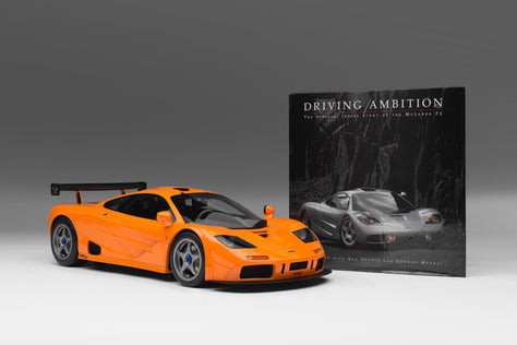 "McLaren F1 LM + Gordon Murray signed Copy of ""Driving Ambition"""