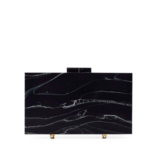 Black Marble Clutch by L'AFSHAR