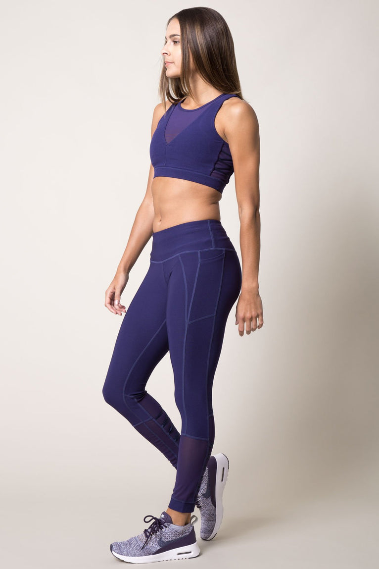 Emulate 7/8 Lace-Up Mesh Legging