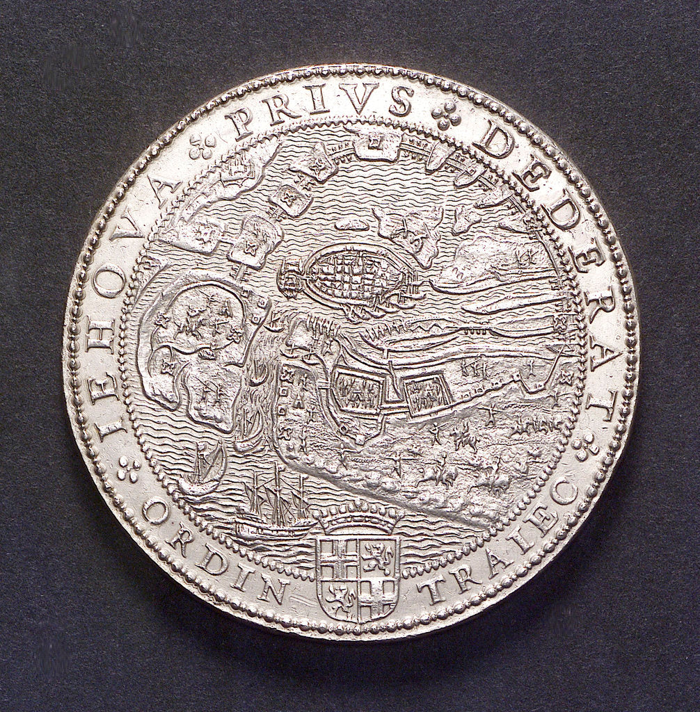 Medal commemorating the defence of Sluys and Ostend, 1603; obverse by unknown