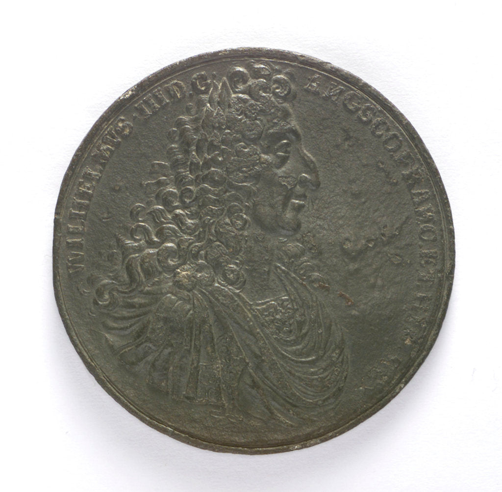 Detail of Medal commemorating the Battle of la Hogue, 1692; obverse by D.S.