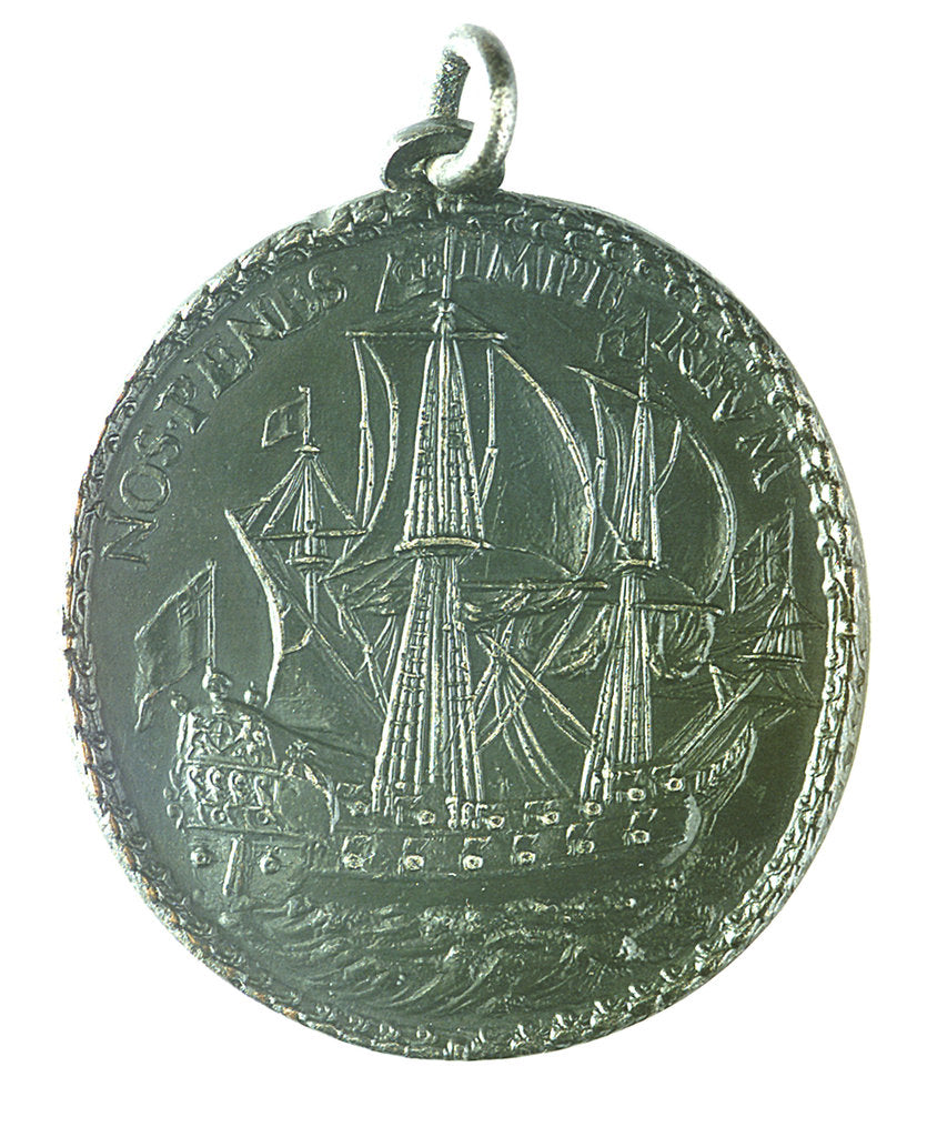Detail of Medal commemorating the dominion of the sea; reverse by Thomas Rawlins