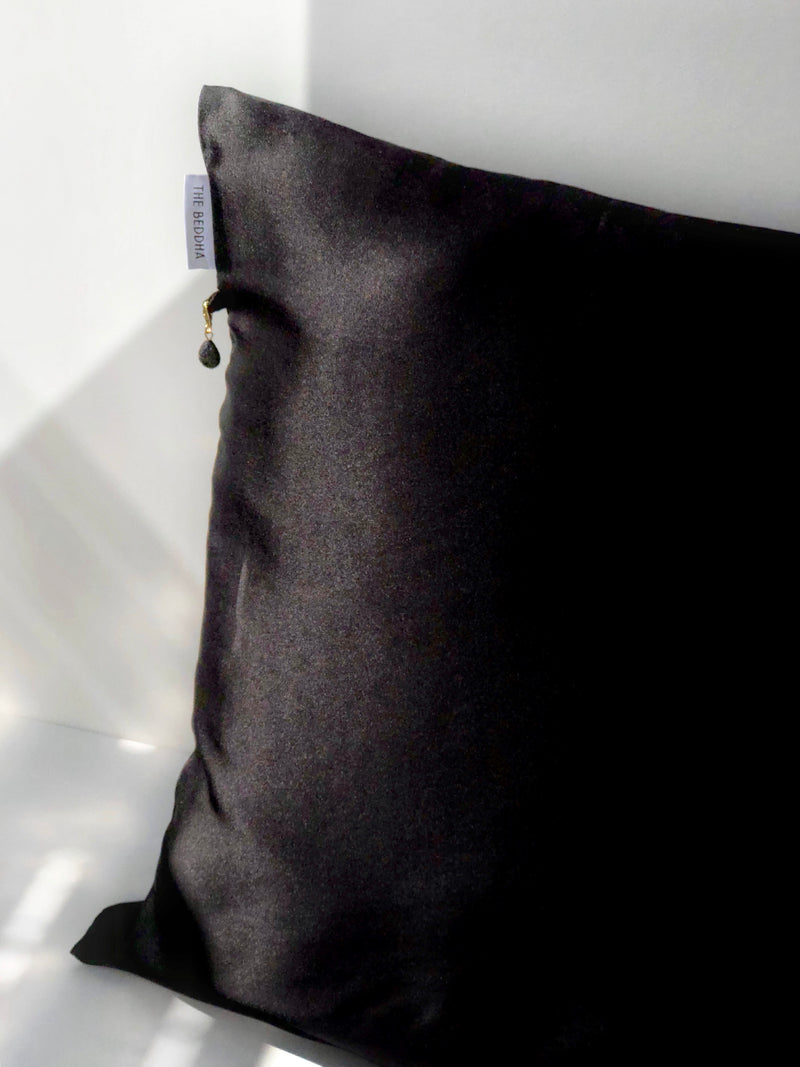 Silk Pillowcase - Black SILKLANDIA