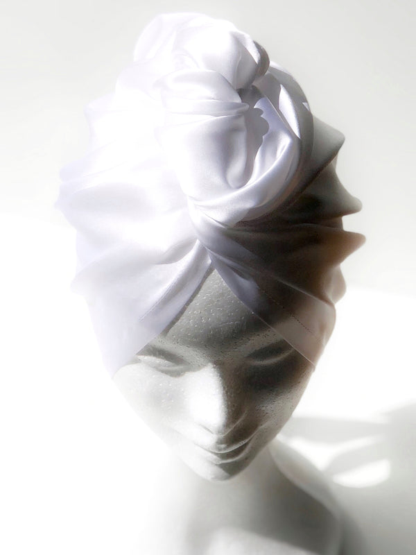 White Silk Turban - SILKCROWN