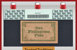TT PK S0672 1944 PHILIPPINES 1 PESO EMERGENCY NOTE PCGS 63 PPQ NONE FINER