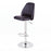 Jill Leatherette Swivel Adjustable Height Bar Stool (Black)