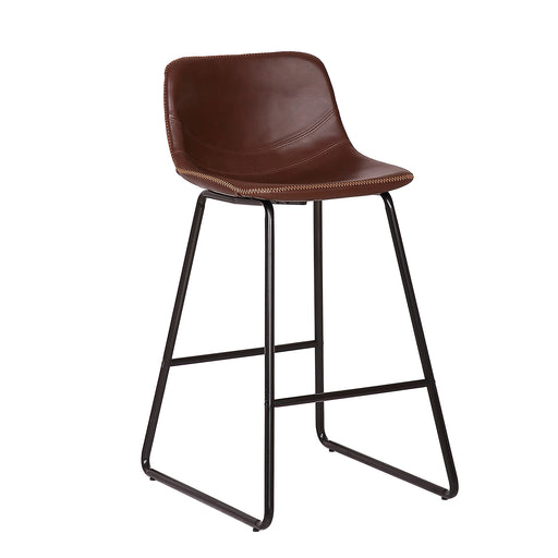 "Ivy 26"" Leatherete Bar Stool (Brown)"