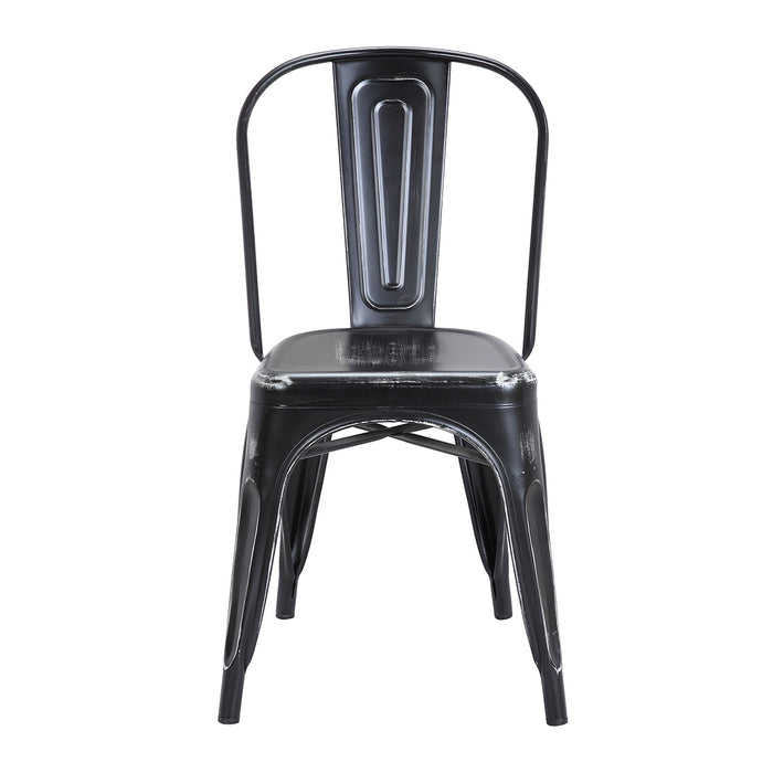 Colin Metal Chair (Distressed Black) 18""