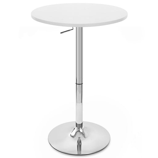 Hope Adjustable Height Pub Table (White)