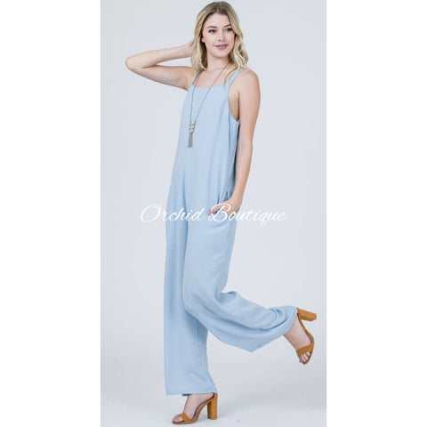 Ana Cozy Pastel Blue Jumper - Orchid Boutique