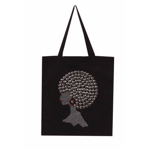 Afro Chic Nail Head Tote Bag