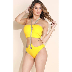 Bali Yellow One Piece Swimsuit