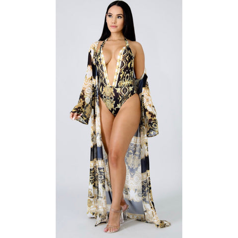 Maldives Ancient Print Two Piece Swim Set