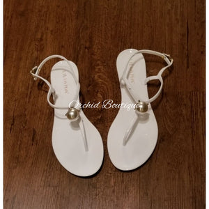 Pearl White Gummy Sandals - Orchid Boutique